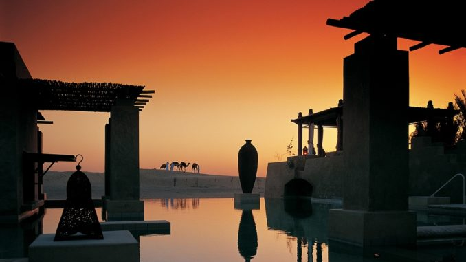 Bab Al Shams Desert Resort & Spa - Coucher de soleil à la piscine