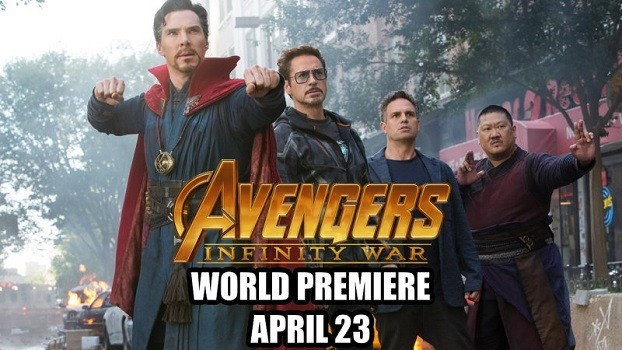 Première mondiale de Infinity War