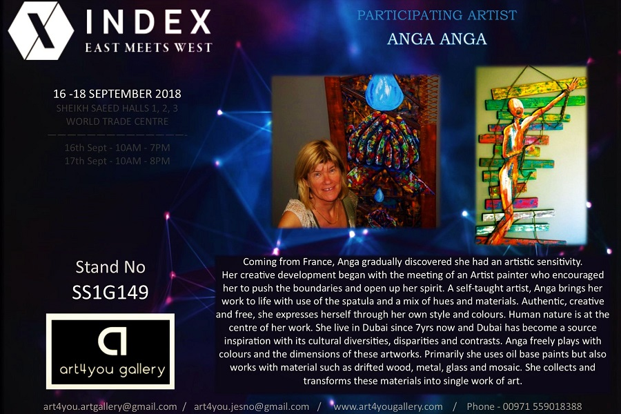 Exposition INDEX 2018 - Anga - Art4you Gallery